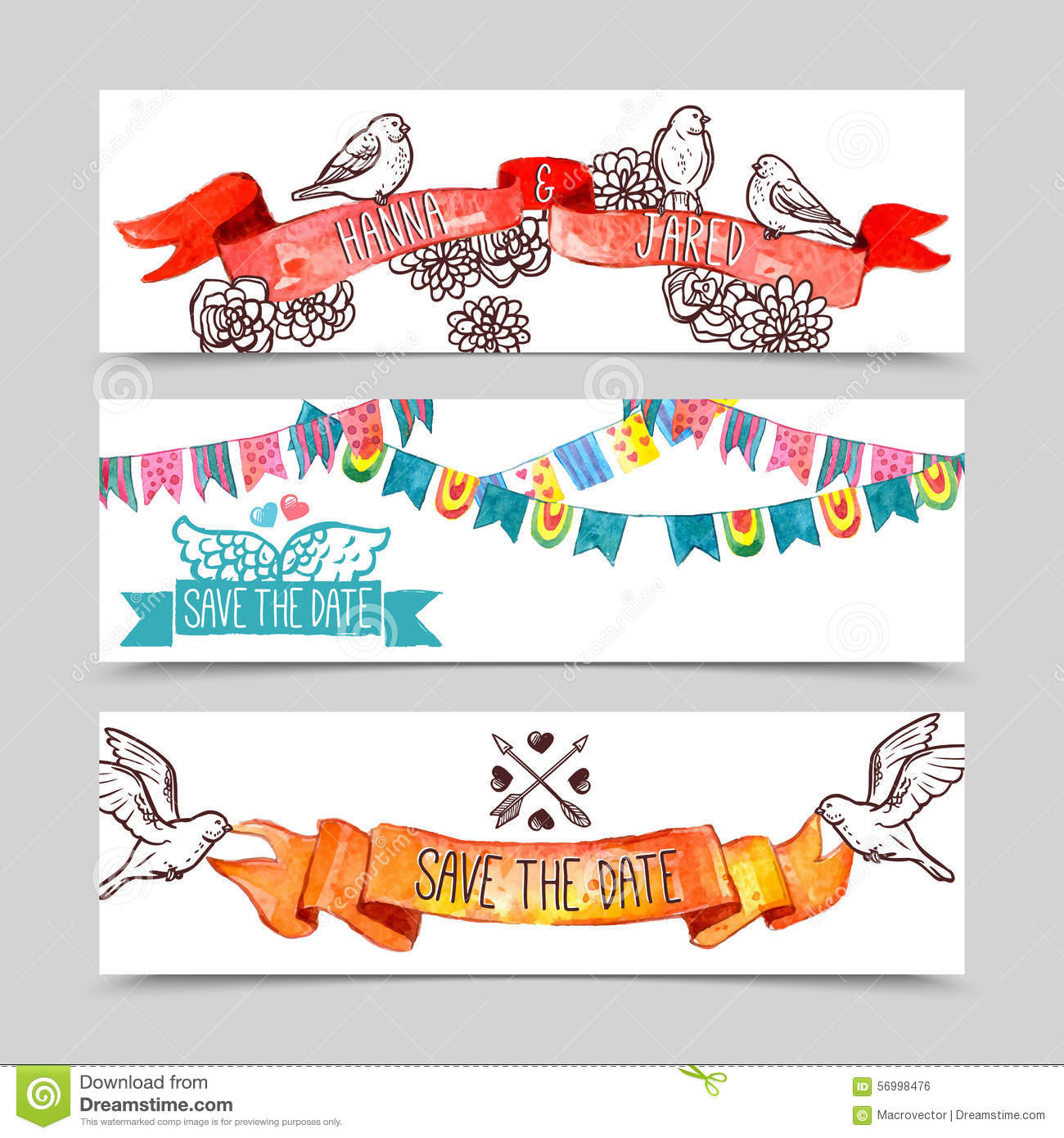 Holiday Banner Set Stock Vector