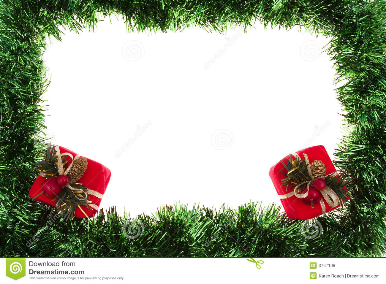 Holiday Border Stock Photo Image Of Christmas Space