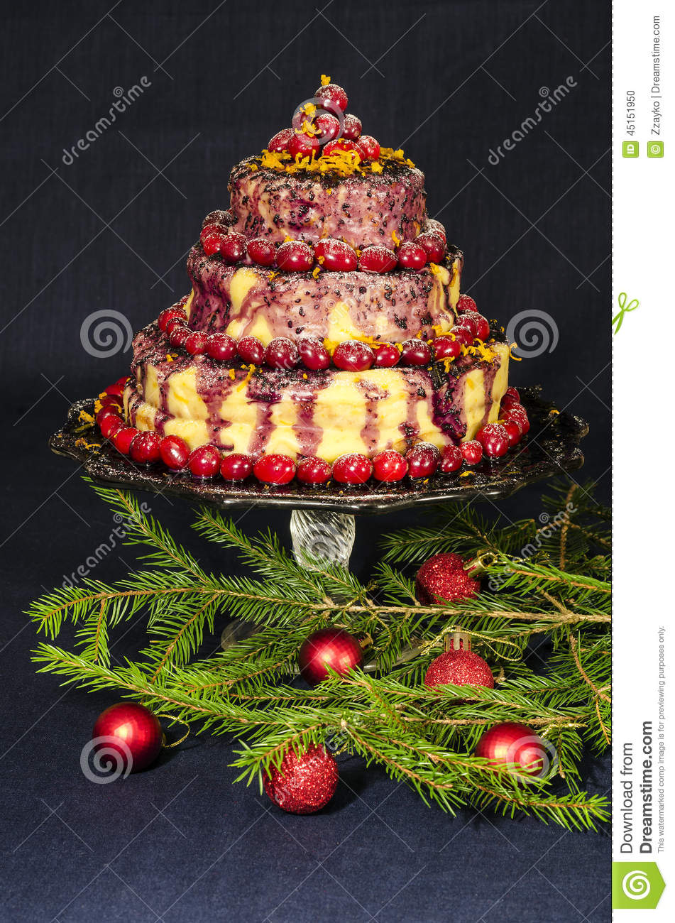 Cake Balls Decorated For Christmas : Holiday Cake And Christmas Tree Twigs Decorated With Balls ...