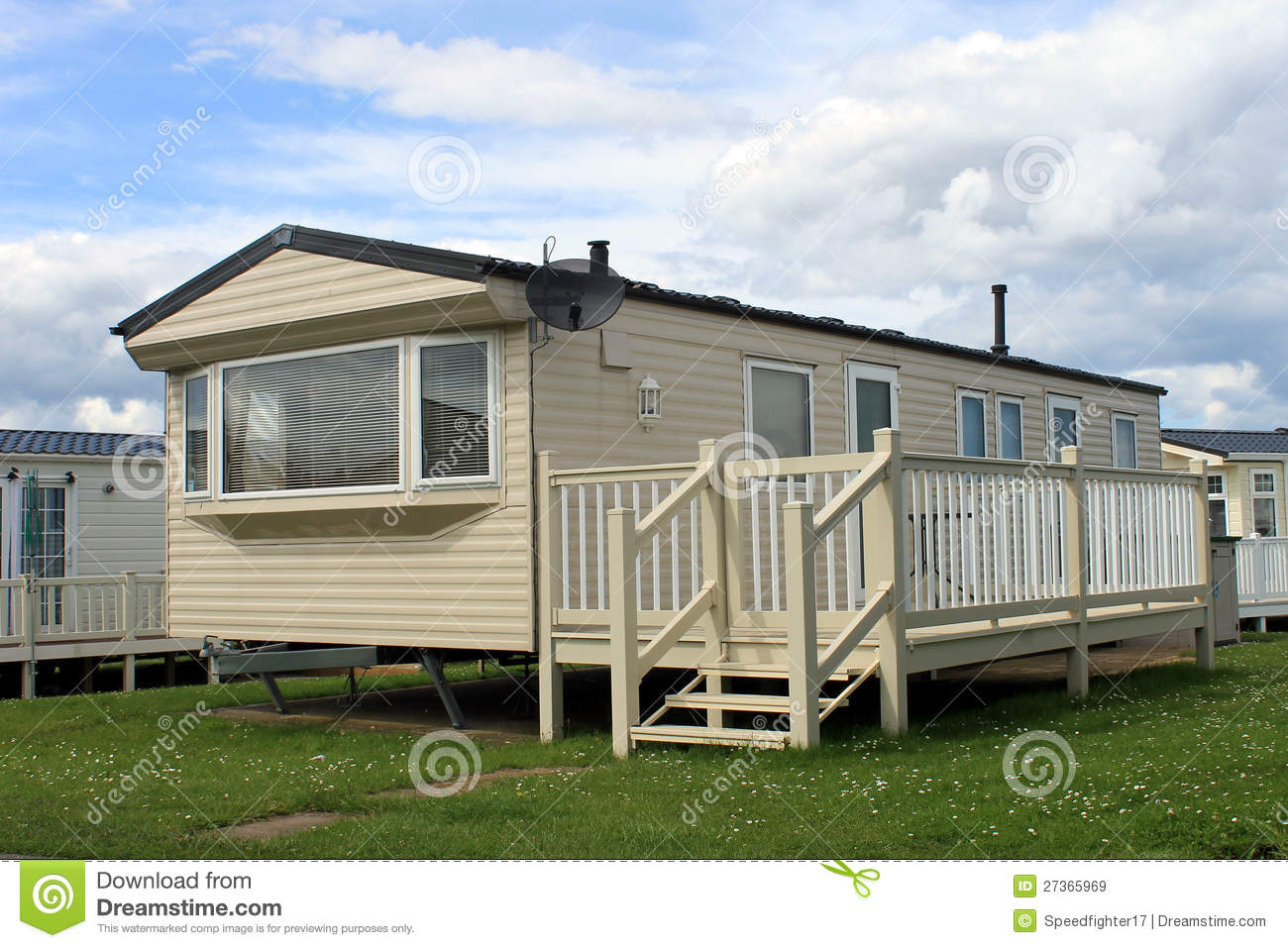 Holiday Caravan Or Mobile Home Royalty Free Stock Images