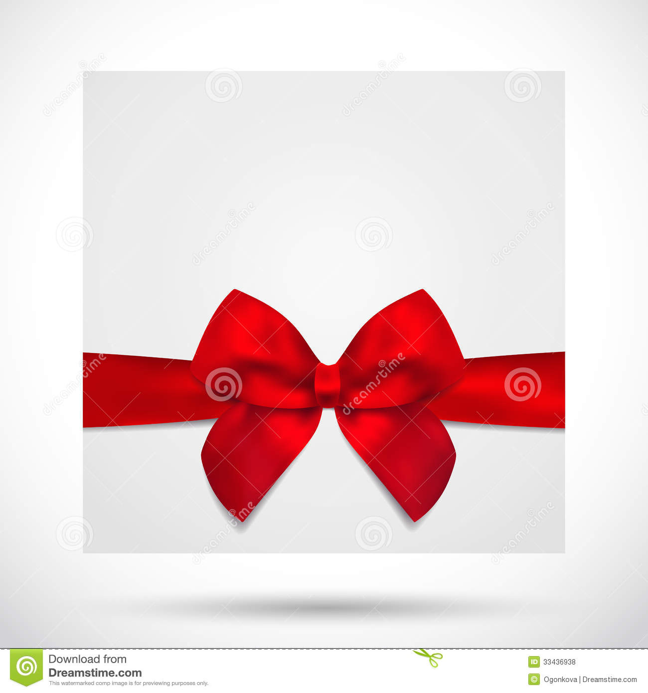 Holiday Card Christmas Gift Birthday Card Bow Stock Vector