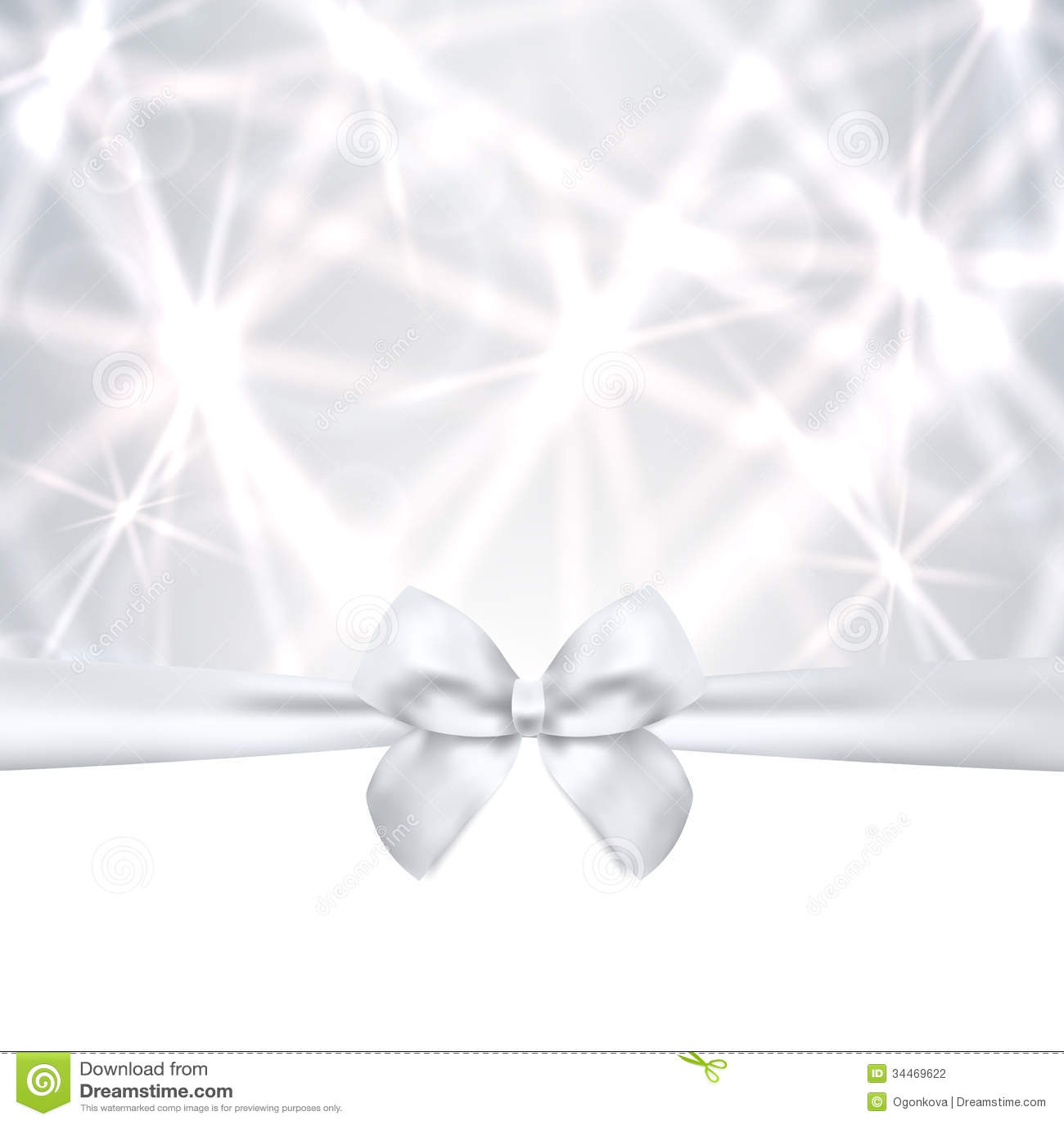 holiday card christmas gift birthday card bow royalty holiday card christmas gift birthday card silv stock photography
