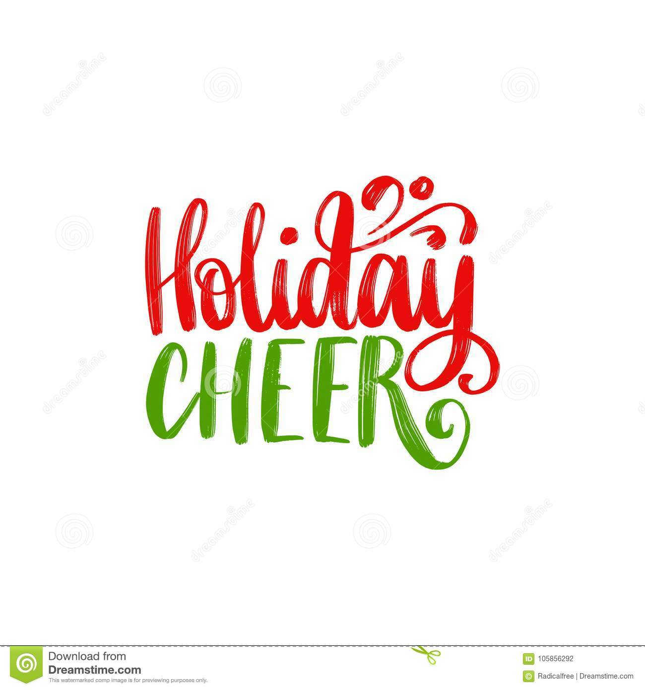 holiday cheer lettering  vector christmas illustration
