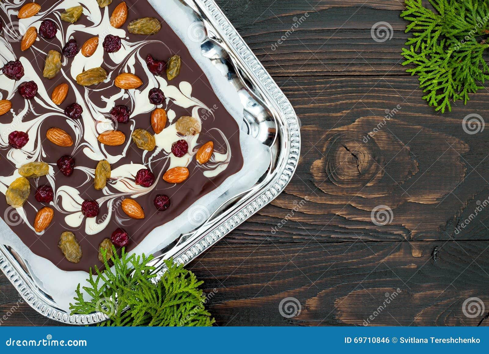 Recipe Dessert Nuts Dried Fruits Chocolate