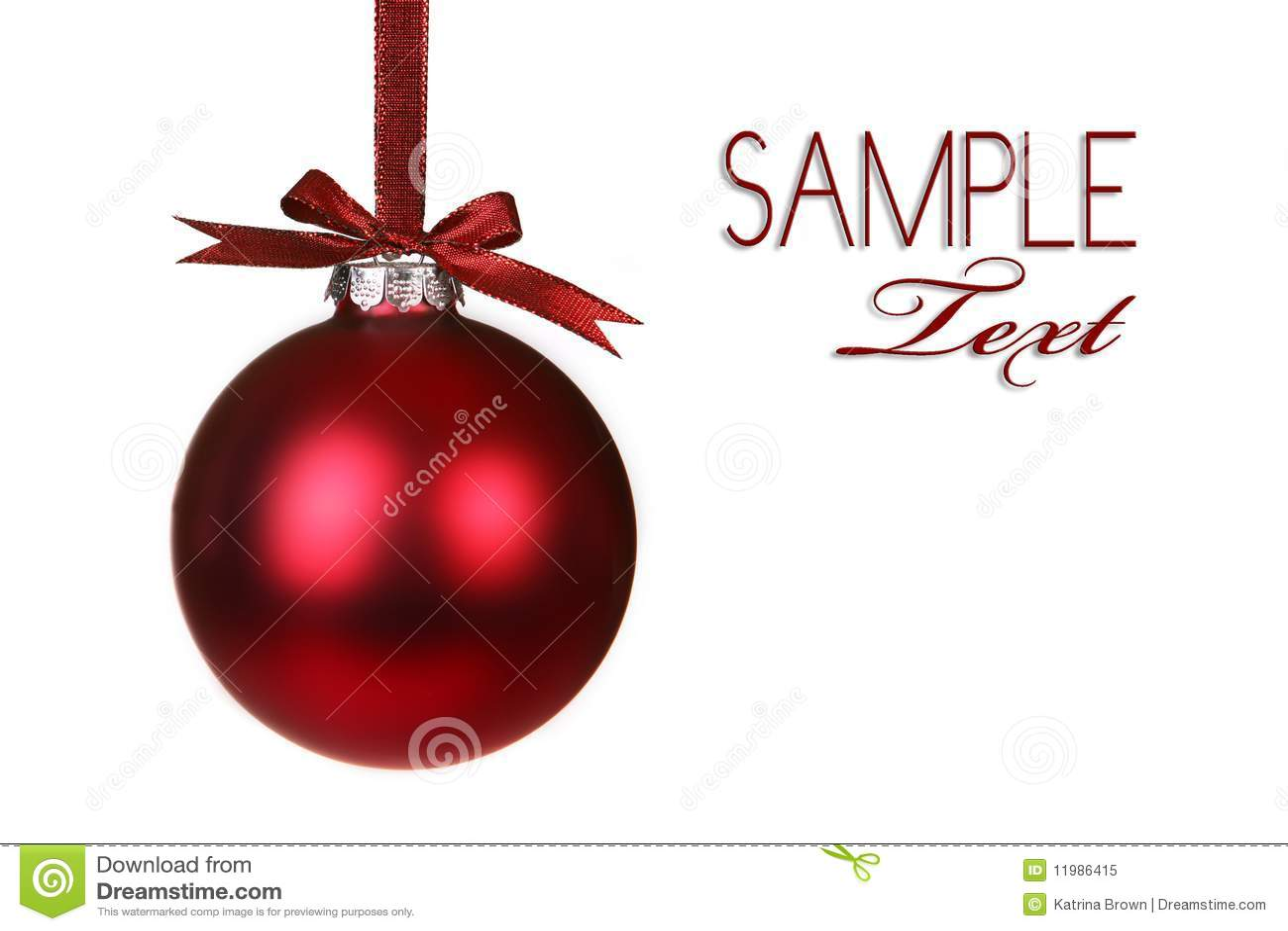 Holiday christmas ornament hanging stock image of