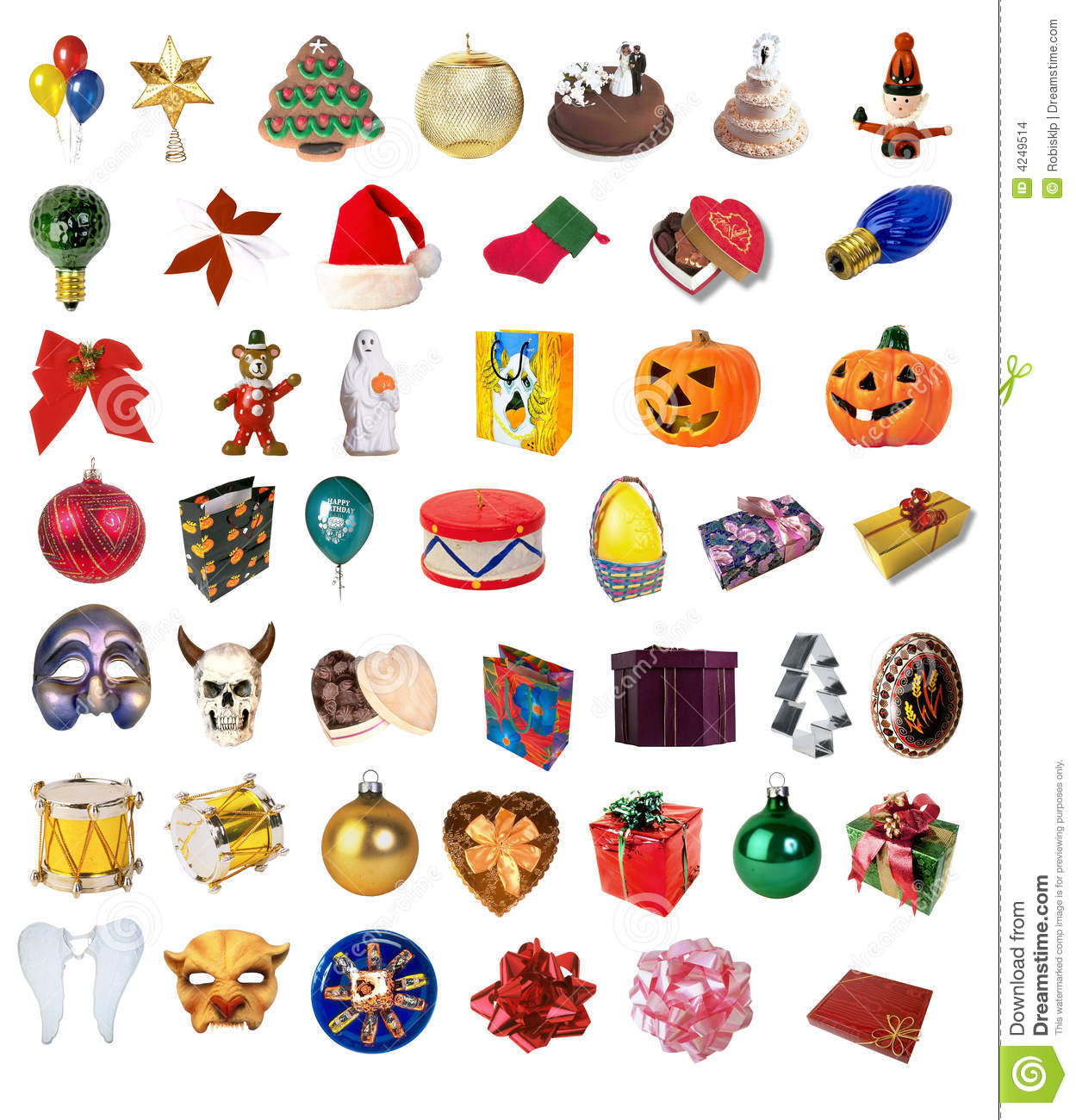 Holiday Clipart Collection Stock Illustration. Image Of