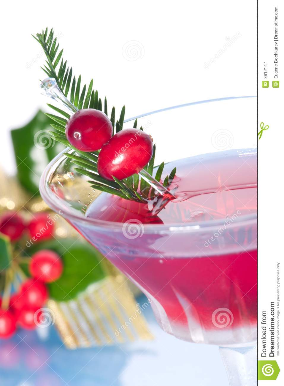 Holiday cocktail royalty free stock photography image for Christmas in a glass cocktail