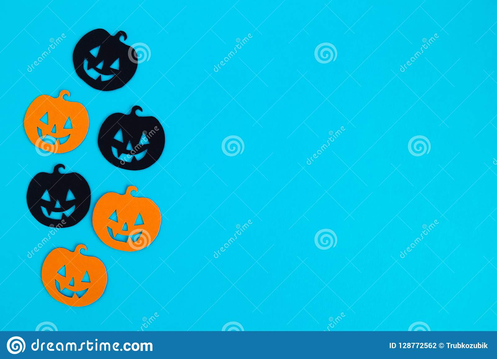 Holiday Decorations For Halloween Orange And Black Paper Pumpkins