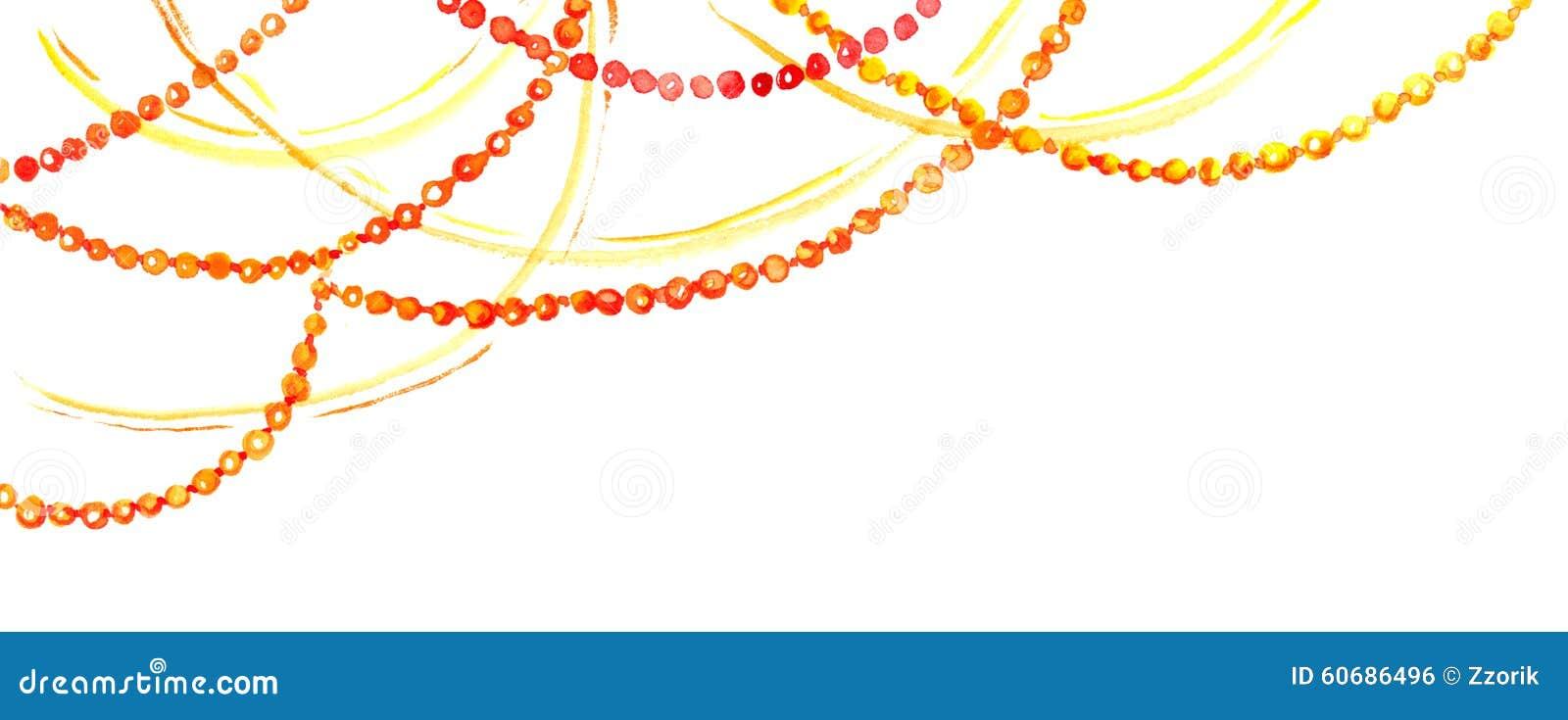 holiday decorative garland watercolor border frame
