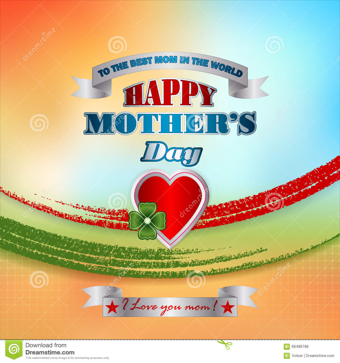 Holiday design, background for Celebration of Mother s Day