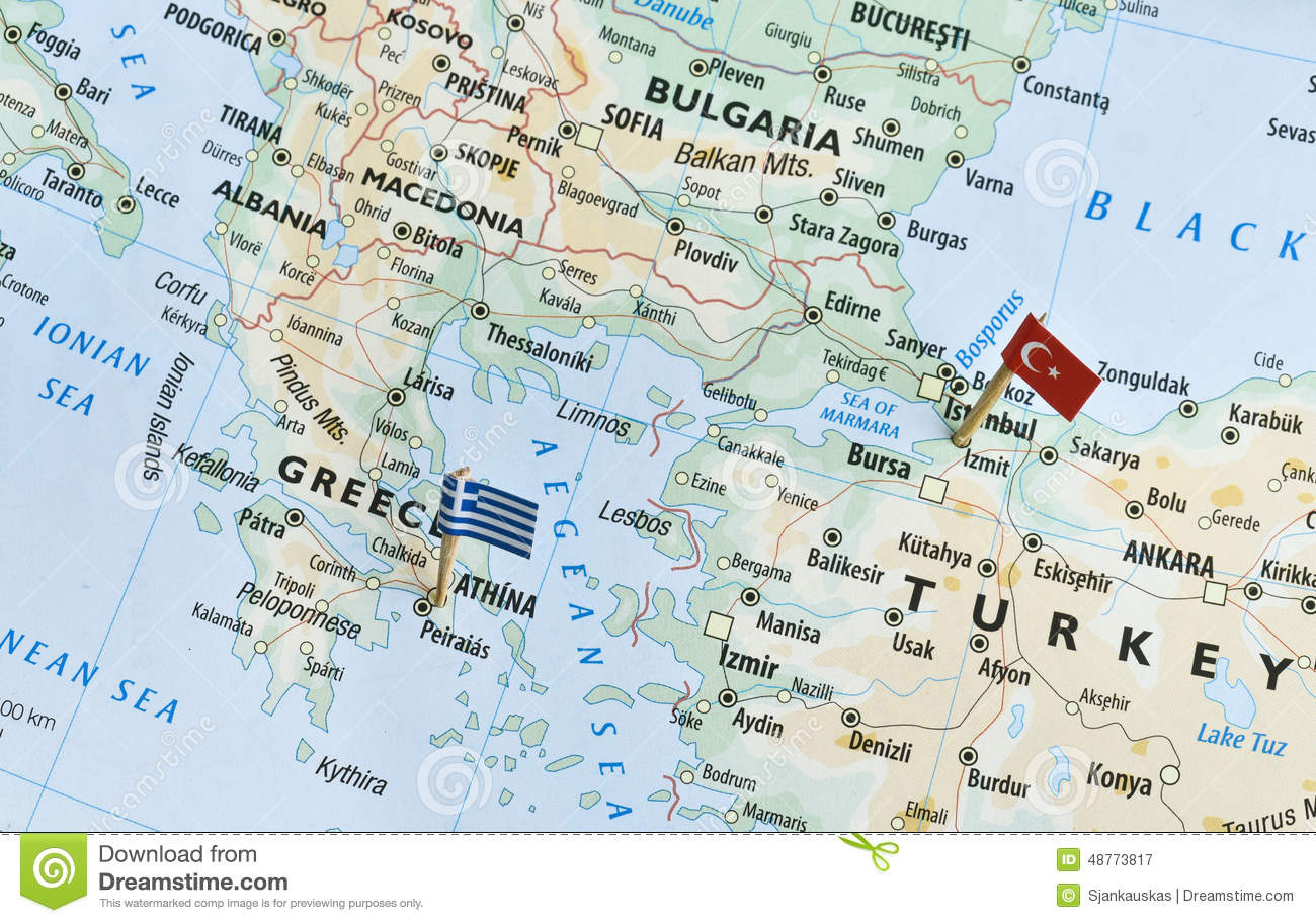 Greece and turkey map holiday destinations stock image image of greece and turkey map holiday destinations gumiabroncs Image collections