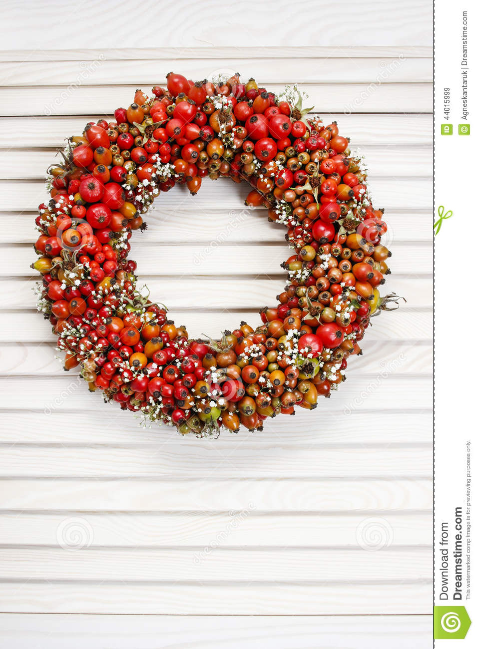 holiday door wreath with rose hip hawthorn and rowan. Black Bedroom Furniture Sets. Home Design Ideas