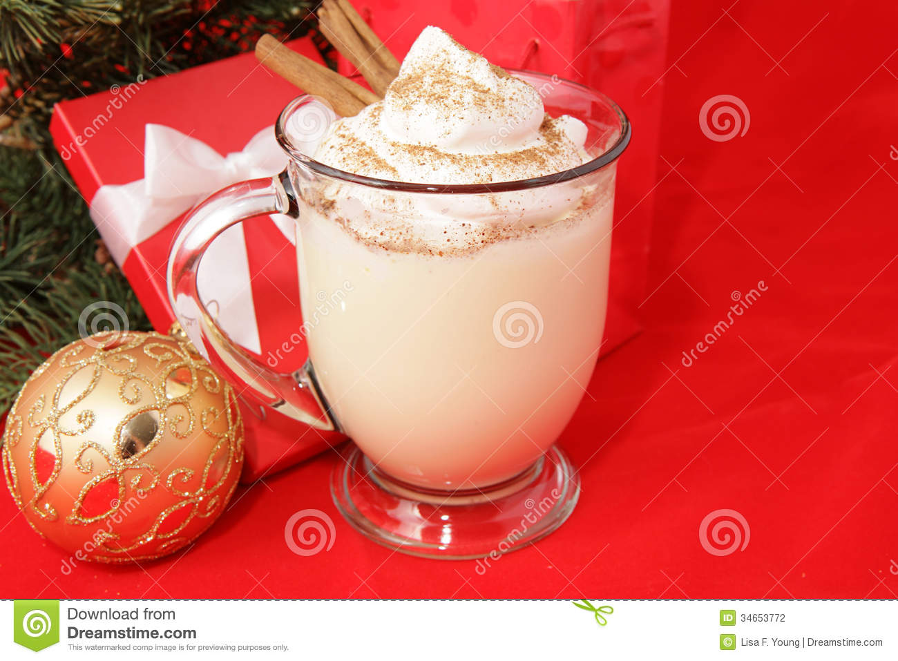 Holiday Eggnog With Copyspace Stock Photo - Image: 34653772
