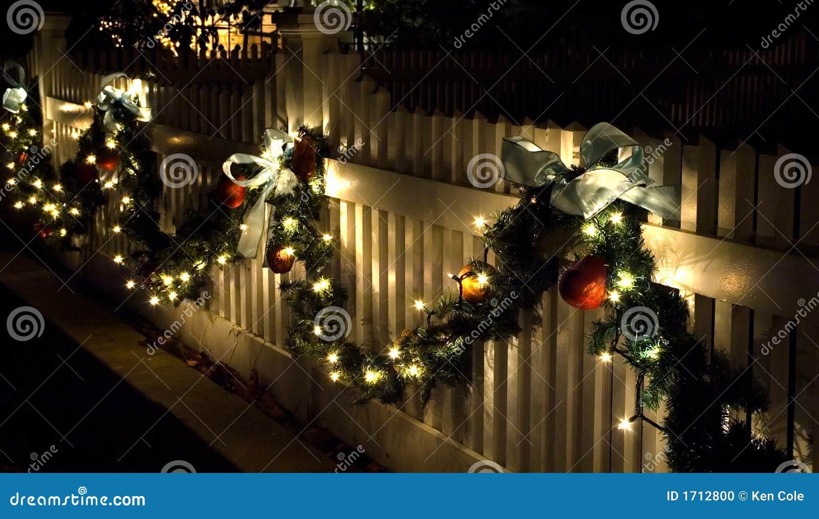 Holiday Fence Decorations Stock Photo Image 1712800