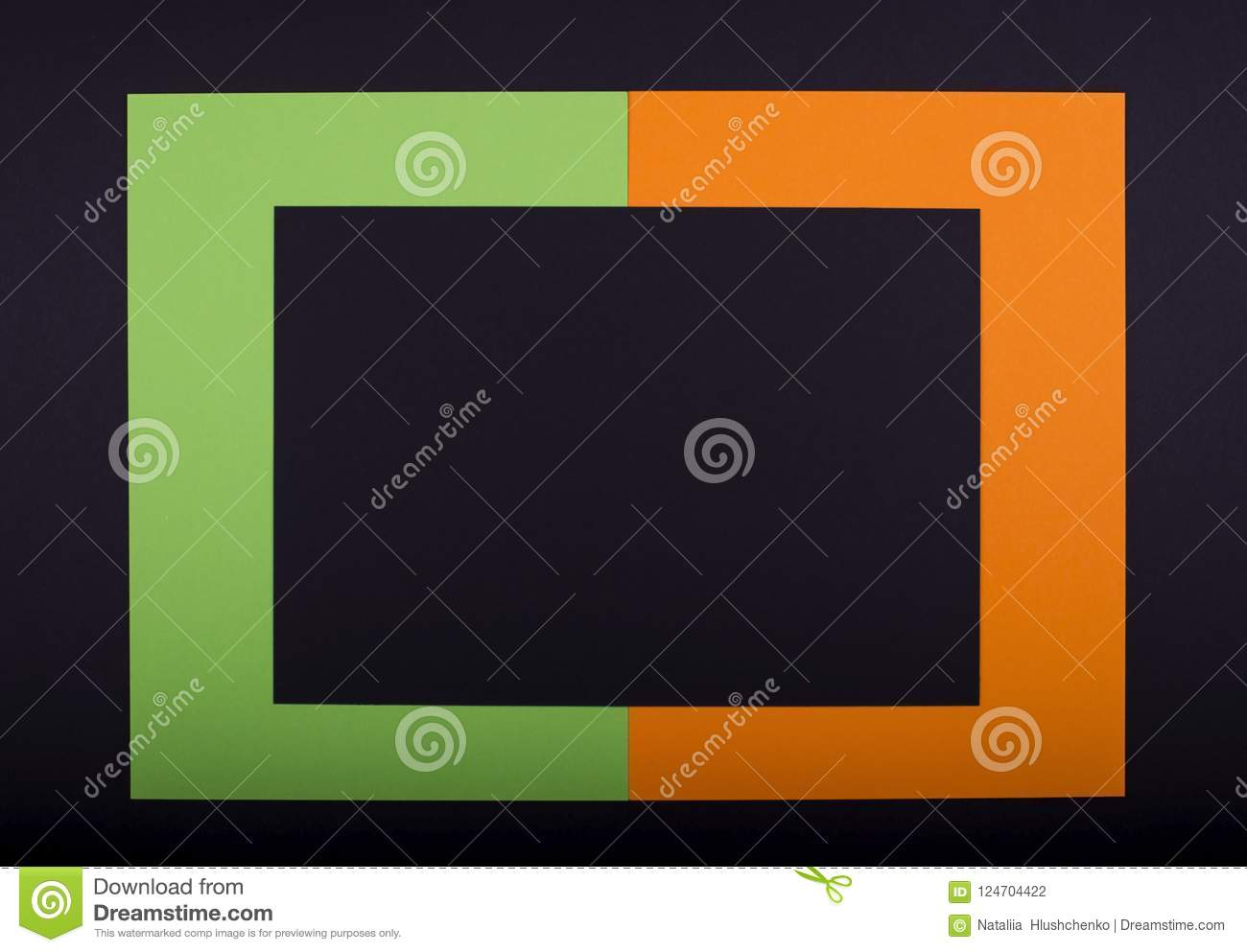 Holiday frame handcrafted from colorful paper for making Halloween design. Copy for yout text.