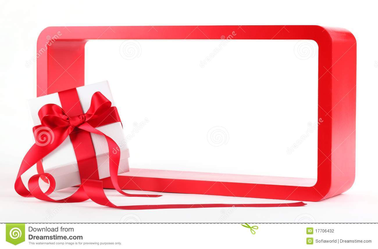 Holiday Gift Stock Photo Image Of Color White Frame