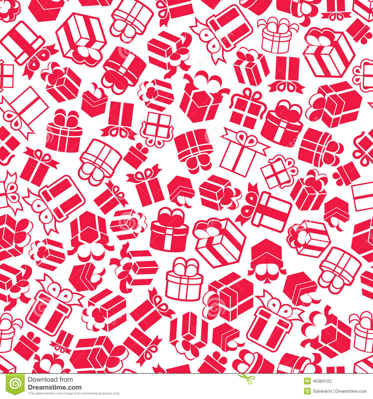 holiday gift boxes seamless background  vector stock