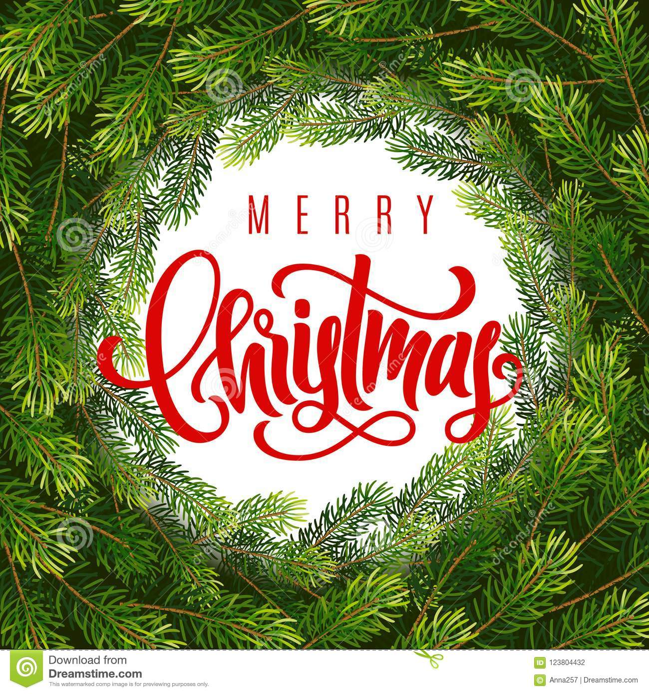 Christmas Gift Card Poster.Holiday Gift Card With Hand Lettering Merry Christmas And