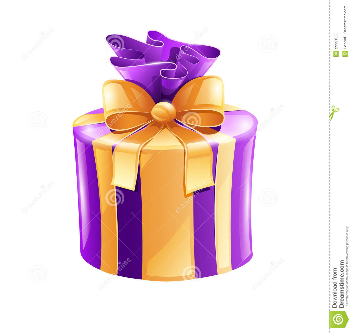 Holiday gift with gold ribbon stock vector image 29921355 - Papel de regalo transparente ...