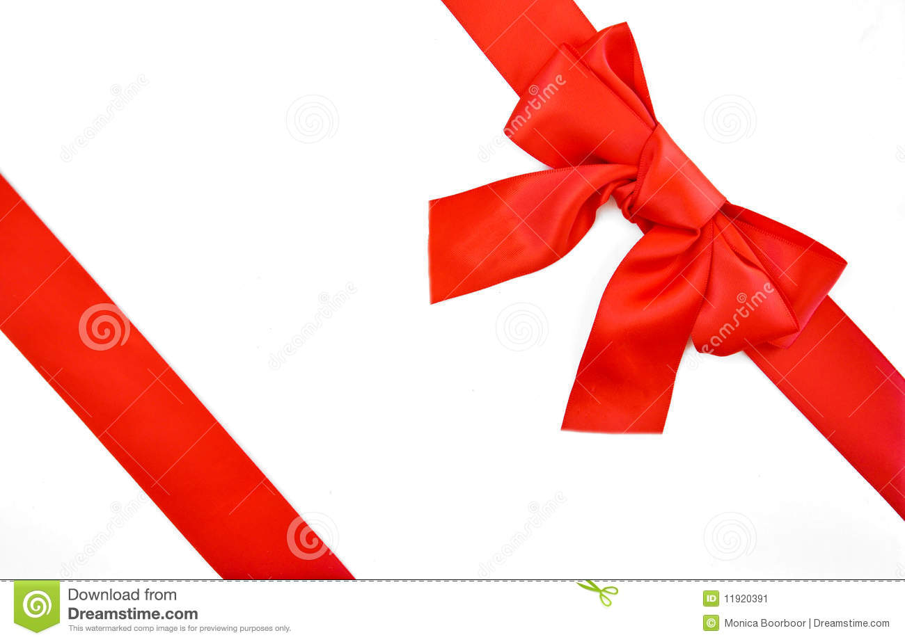 Holiday Gift Wrapping Ribbon And Bow Stock Image Image