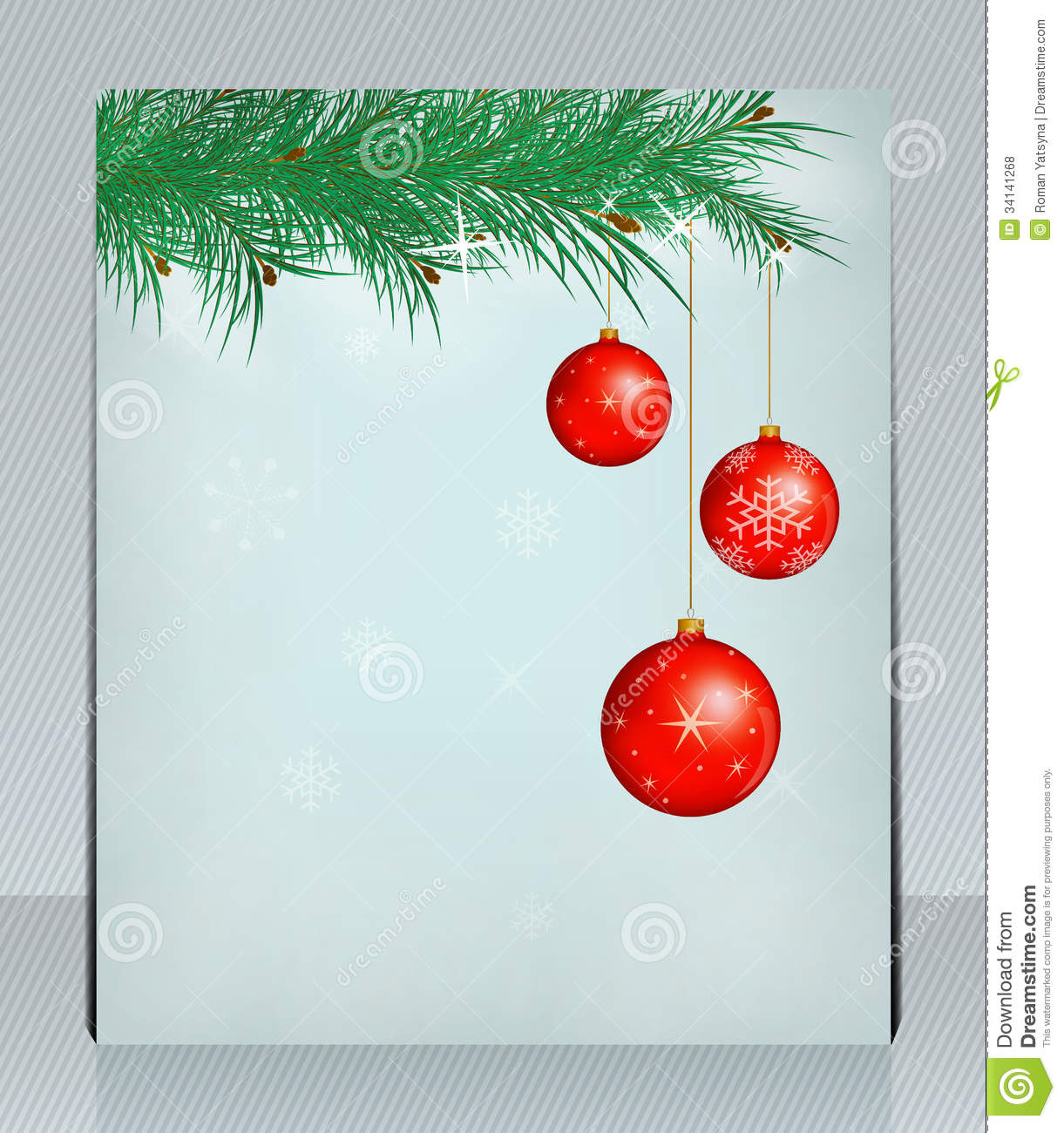 Holiday Greeting Card With Christmas Balls Can Be Royalty Free – Holiday Card Template