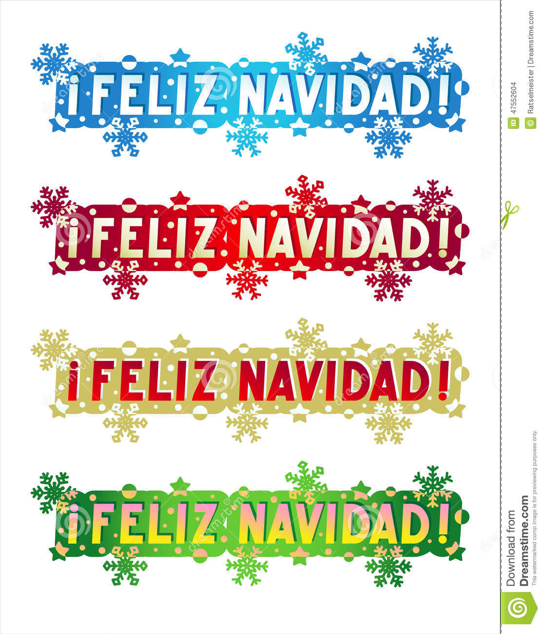 Holiday Greeting - Merry Christmas! - In Spanish Stock ...