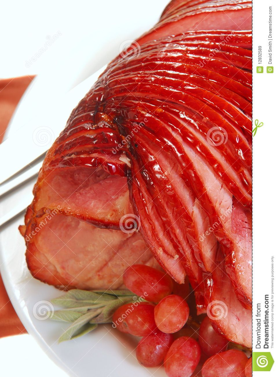 Easter Spiral Cut Ham Royalty Free Stock Photo