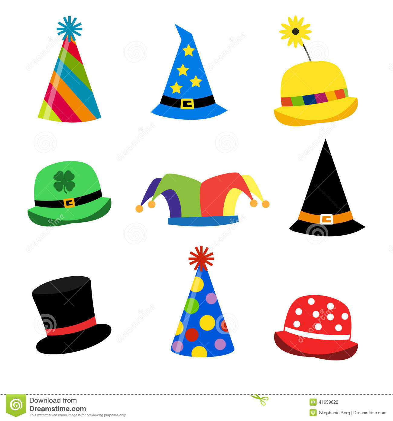 f5b5bb000 Holiday Hats stock illustration. Illustration of leprechaun - 41659022