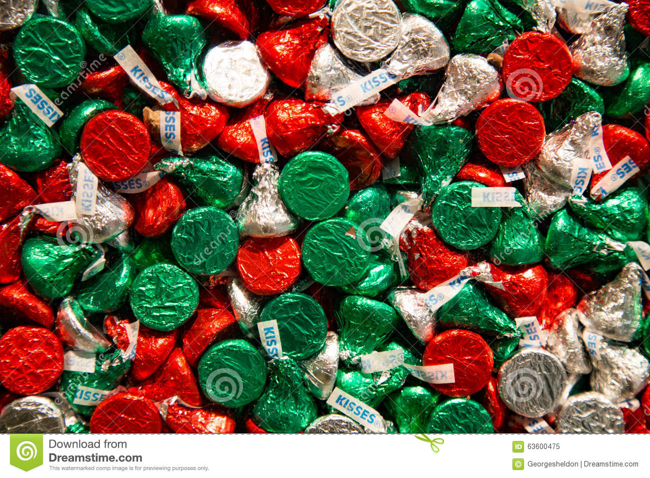 editorial stock photo download holiday hershey kisses