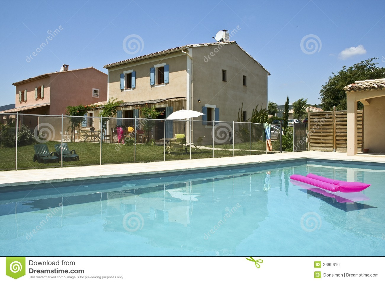 Holiday Homes Swimming Pool South Of France Stock Photo Image Of Living Houses 2699610