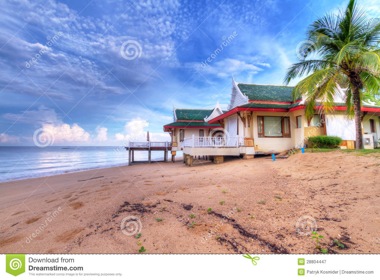 Holiday House On The Beach Of Thailand Stock Image Image