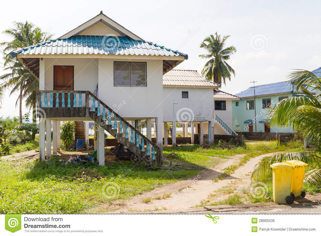 Holiday houses in thailand royalty free stock photo for Thailand houses pictures