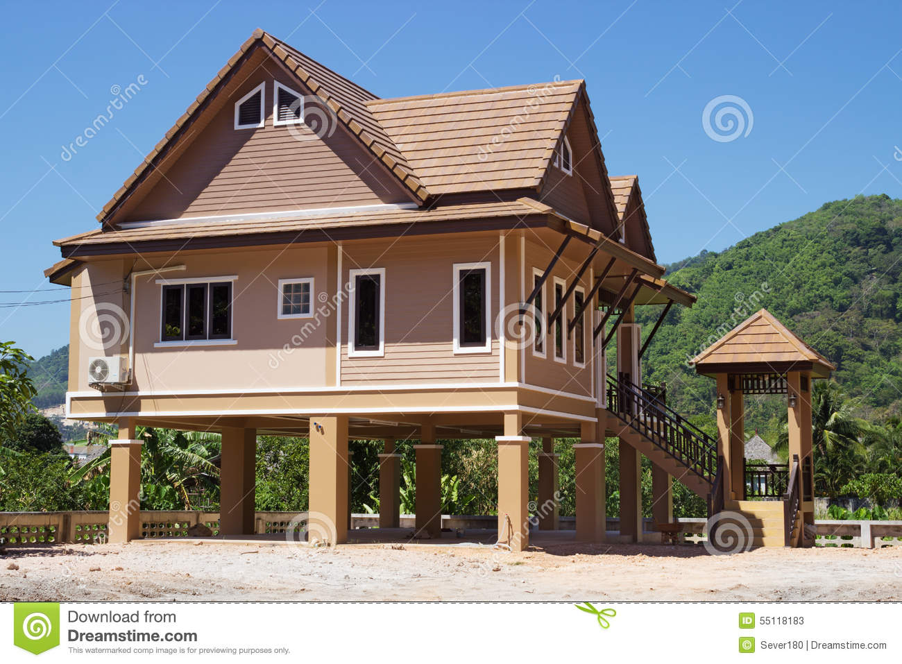 ^ Holiday Houses In hailand ditorial Stock Photo - Image: 55118183