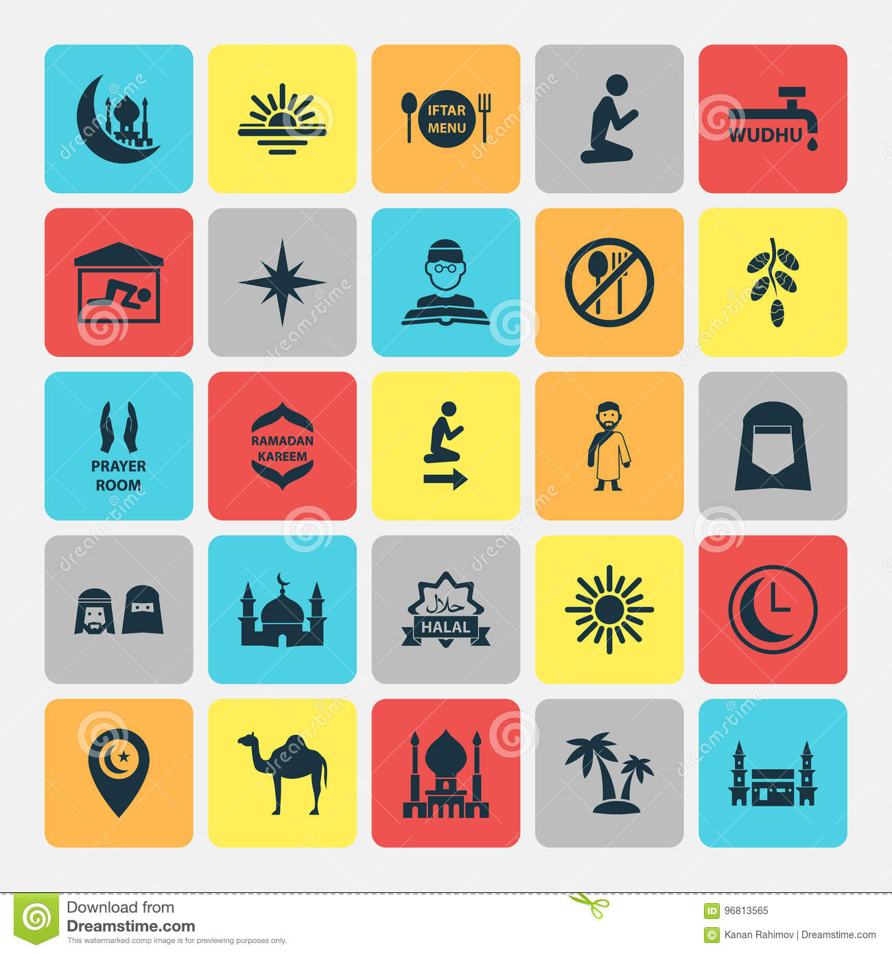 Holiday Icons Set  Collection Of Animal, Direction, Man And