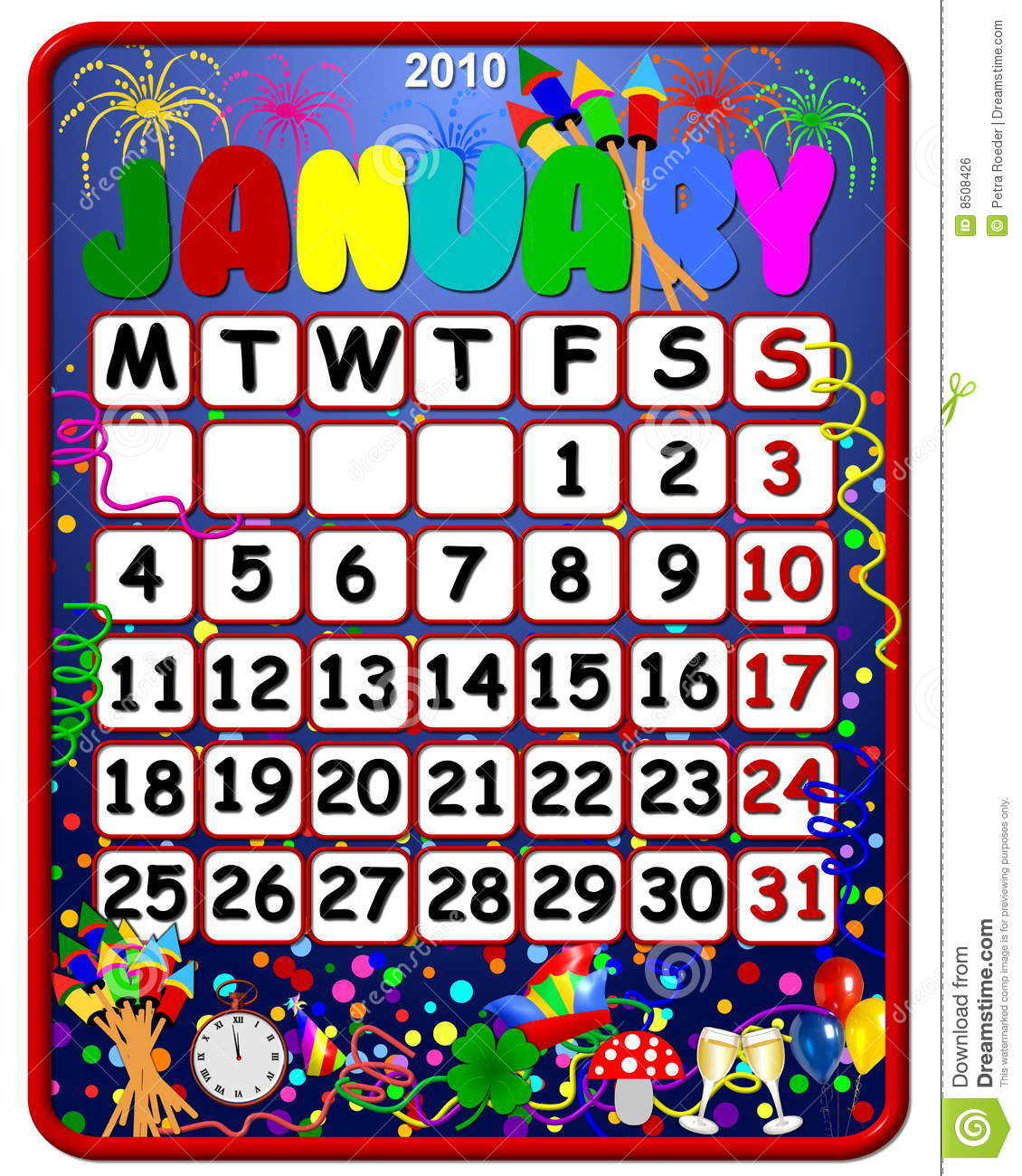 calendar 2010 with holidays free download