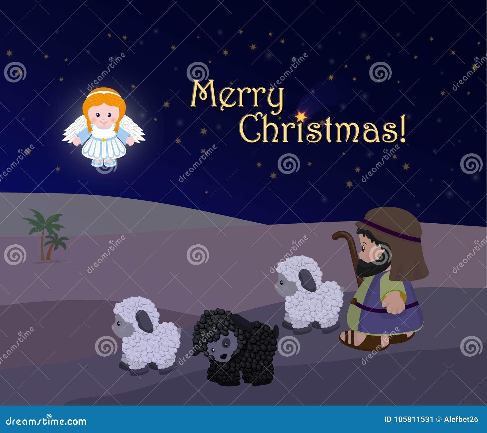 Holiday Of Merry Christmas, Nativity Scene Stock Vector ...