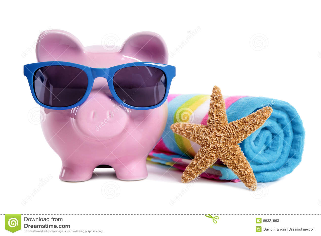 Holiday money planning travel retirement saving concept for Travel fund piggy bank