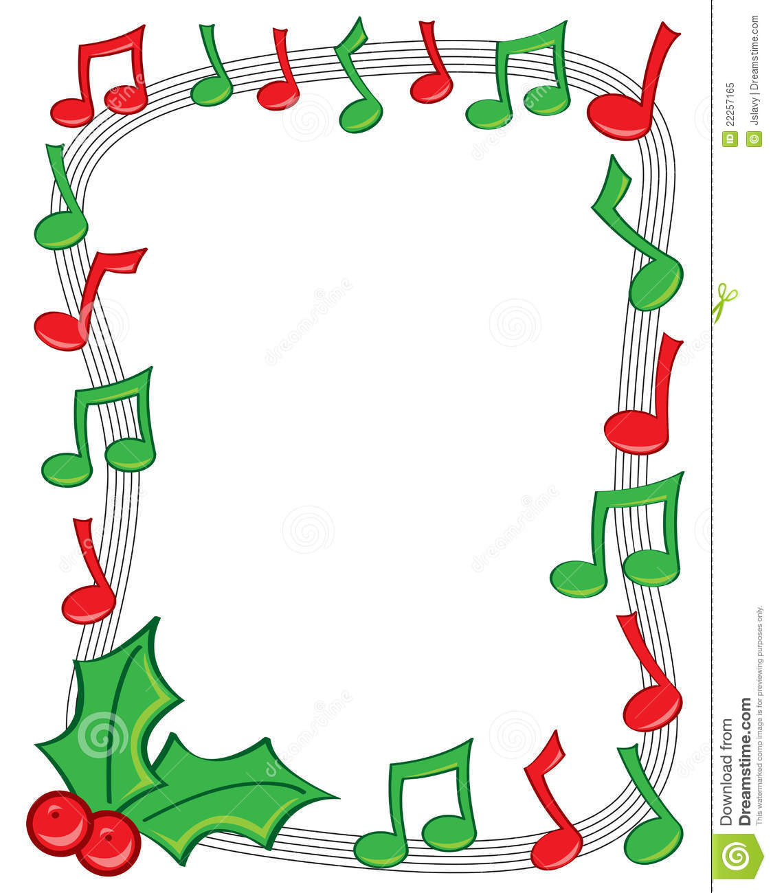 holiday music border stock vector illustration of december 22257165 rh dreamstime com
