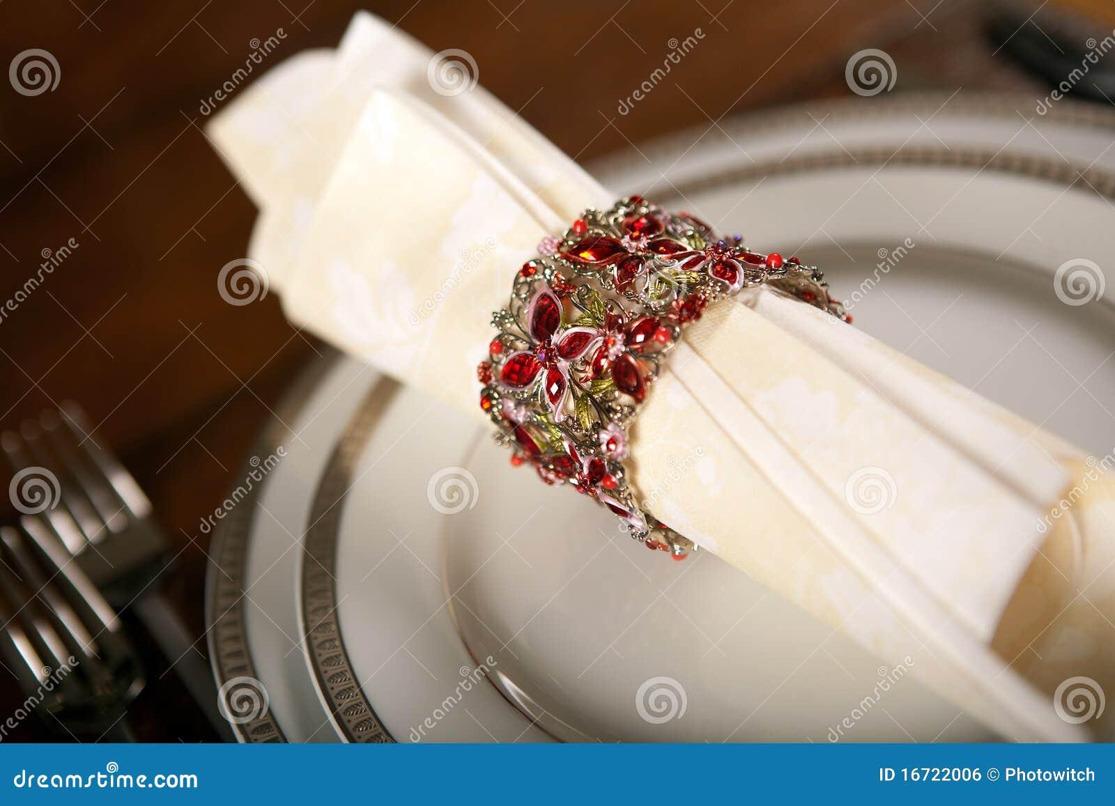 Holiday Napkin Ring 3 Stock Photo Image Of Dine