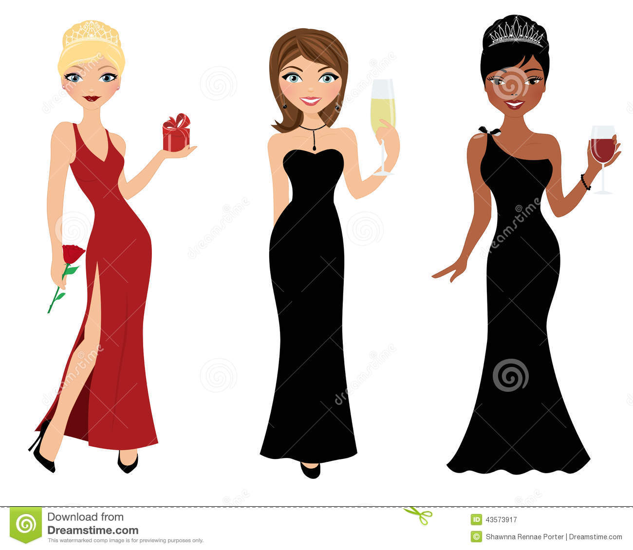 holiday party girls stock image illustration of formal 43573917