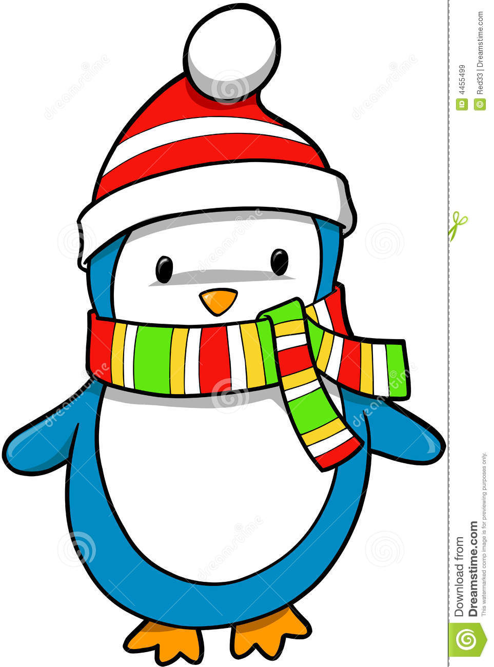 Holiday penguin vector royalty free stock images image 4455499