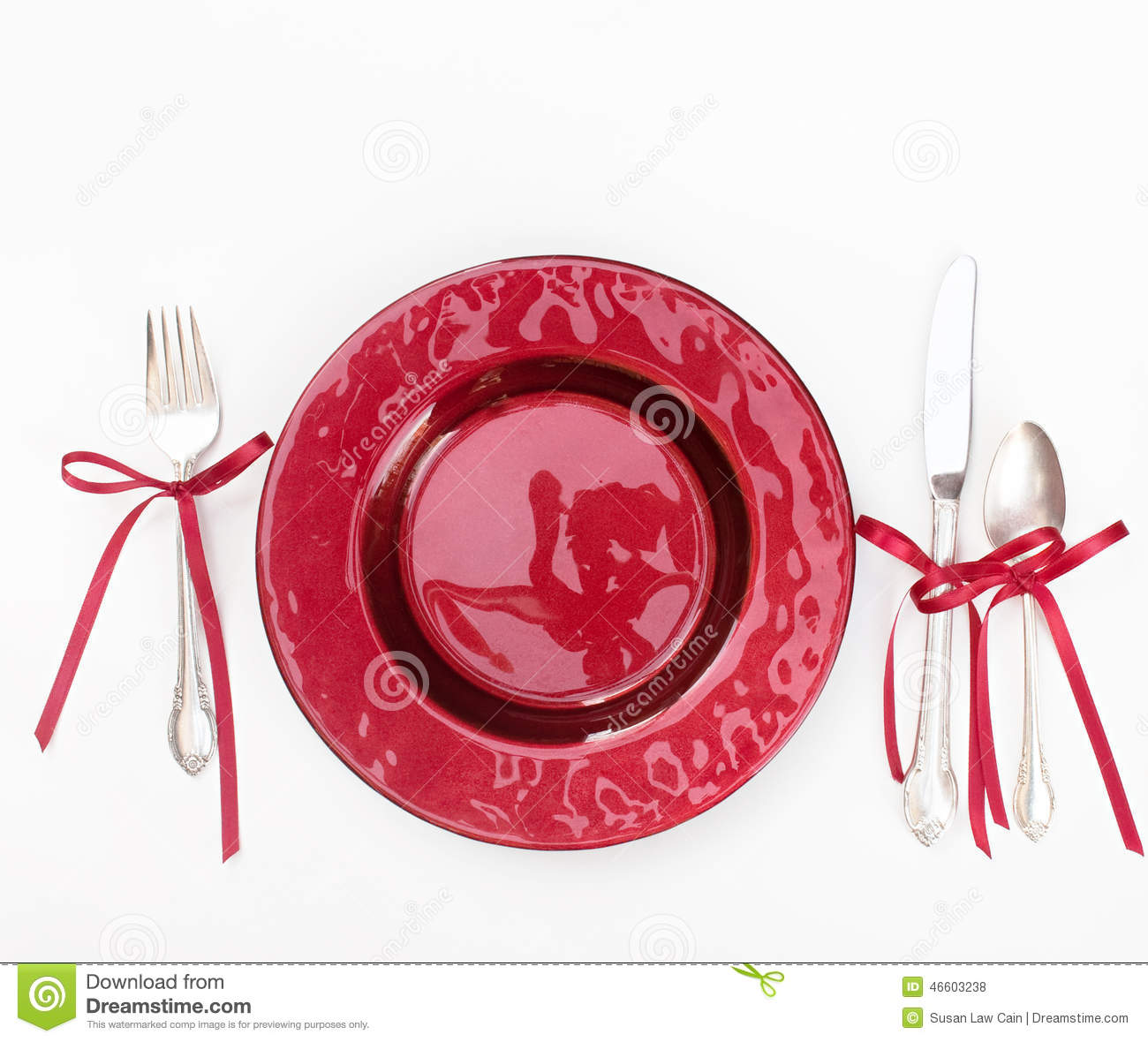 Holiday Place Settings: Holiday Place Setting Stock Photo