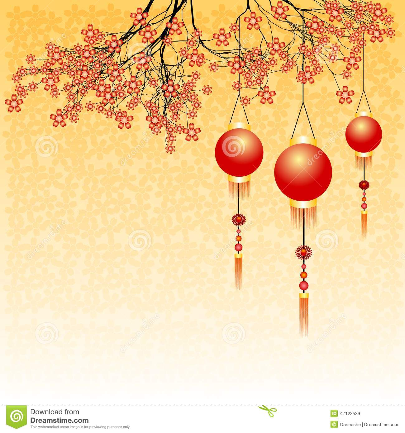 holiday postcard to the chinese new year 2015 stock vector