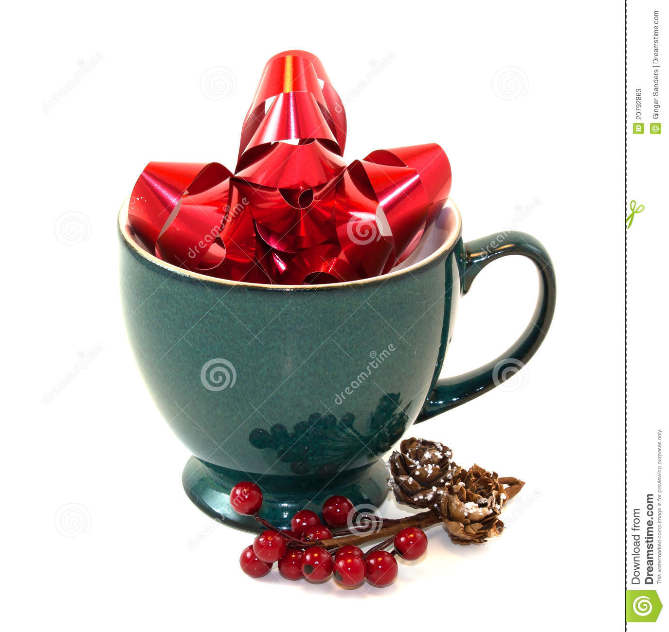 Holiday Pottery Coffee Cup