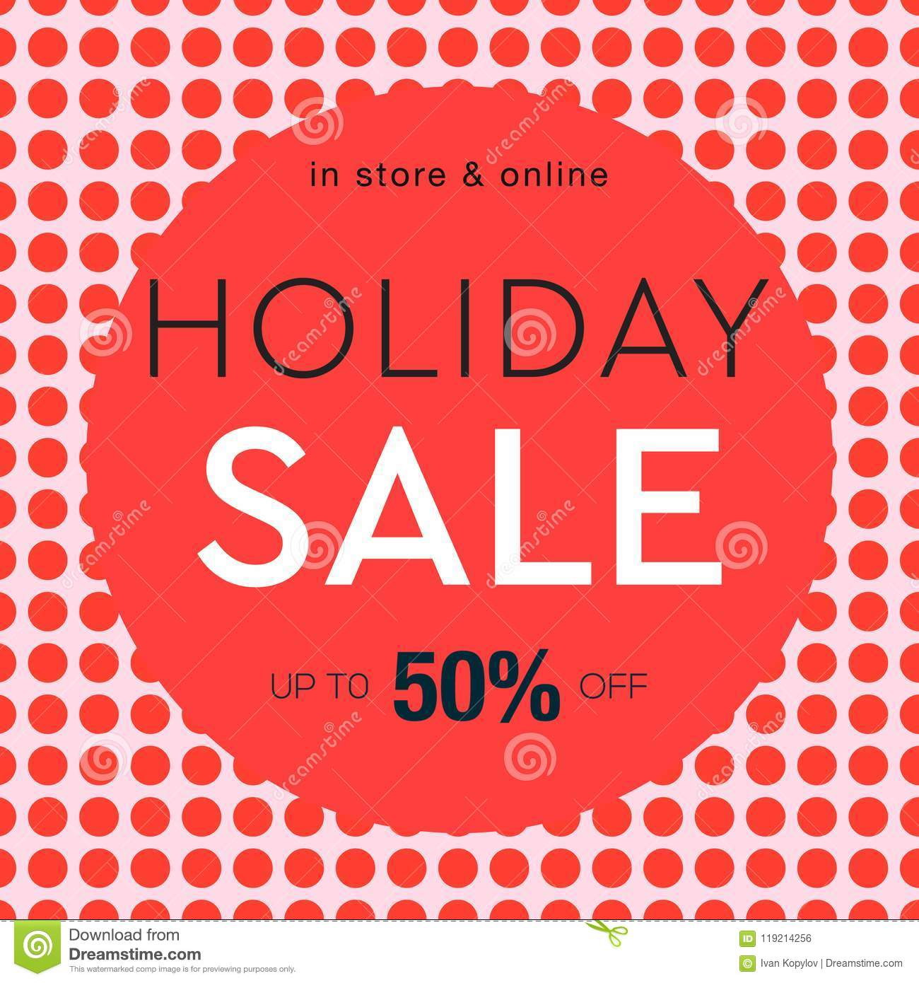 Holiday Sale Poster, Social Media Template For Online