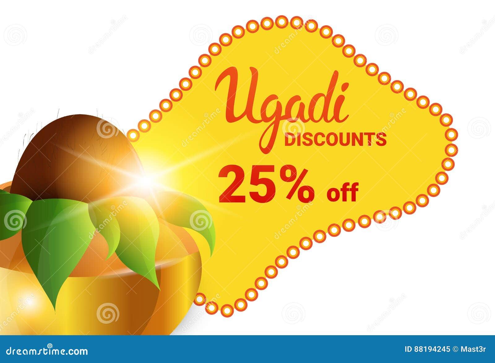 Holiday Sale Shopping Happy Ugadi Gudi Padwa Hindu New Year Greeting