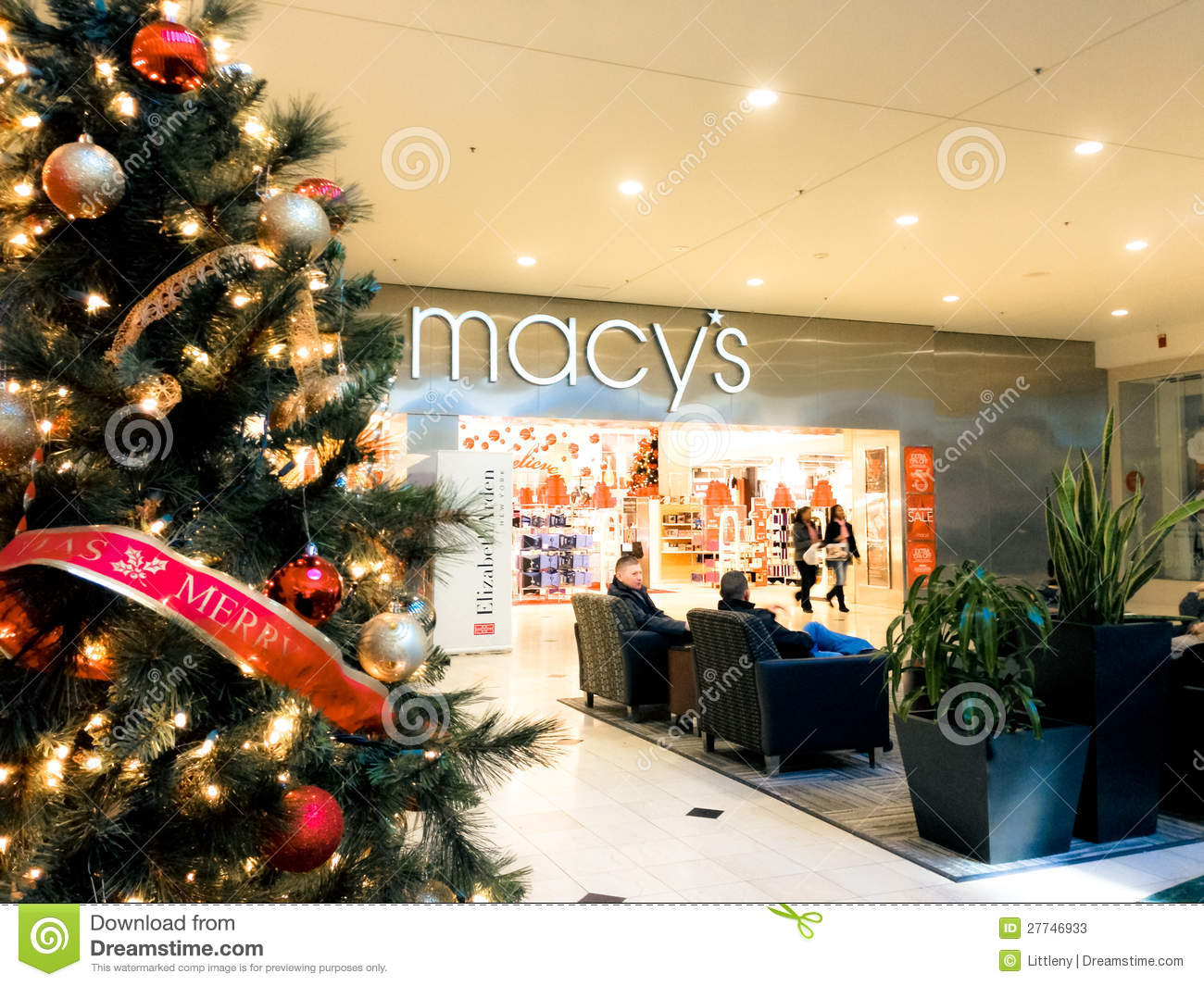 Holiday Shoppers editorial stock photo  Image of commerce - 27746933