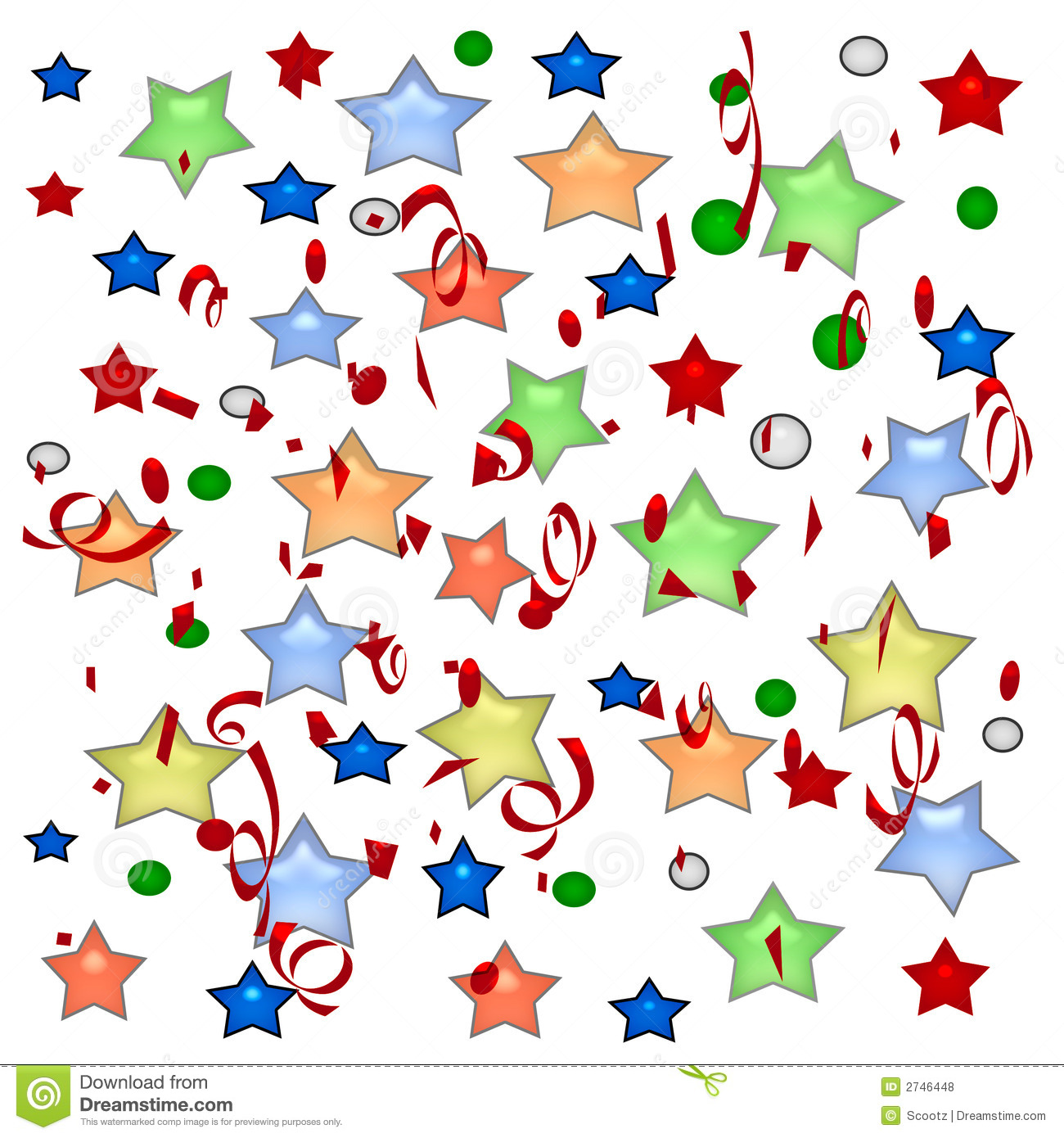 holiday stars and streamers stock illustration illustration of