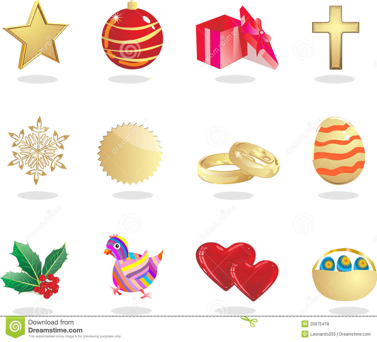 Holiday Symbol Royalty Free Stock Photos - Image: 20675418