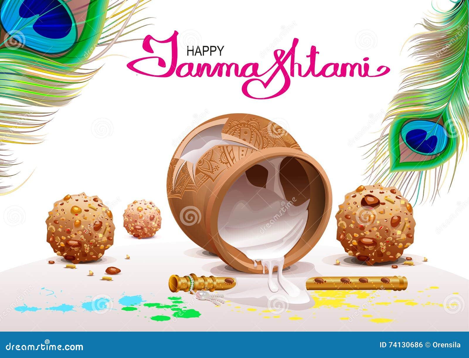 Janmashtami Home Decoration Holiday Symbols Krishna Janmashtami Pot Of Yoghurt